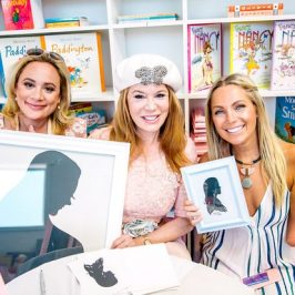 TV's Erica Rose's Tickled Pink Silhouette Artist Baby Shower